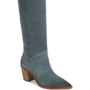 Sam Edelman Leahla Slouchy Boot  Bluish Grey - 9